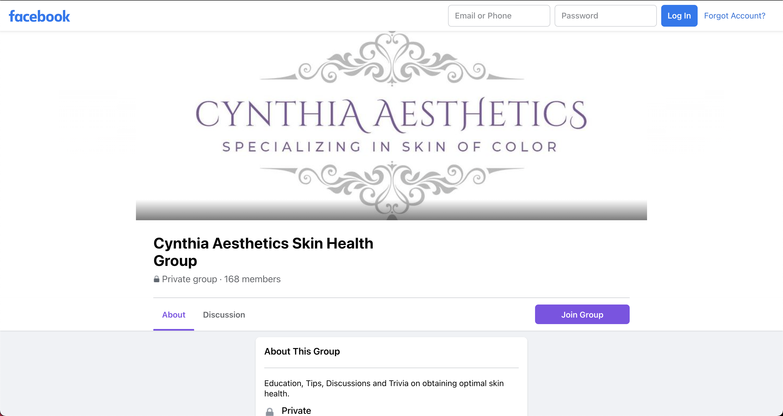 Cynthia Aesthetics Facebook Group Pic